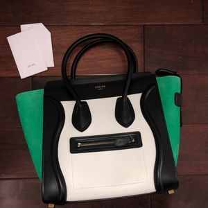 512e49b4d6 Women s Celine Micro Luggage Tote on Poshmark